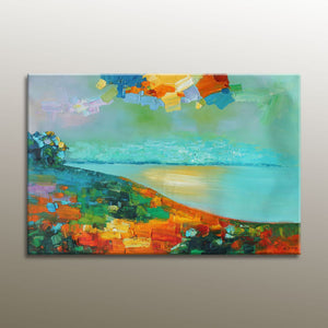 Abstract Wall Art, Landscape Painting, Oil Painting, Large Canvas Painting, Abstract Oil Painting, Canvas Painting, Original Painting