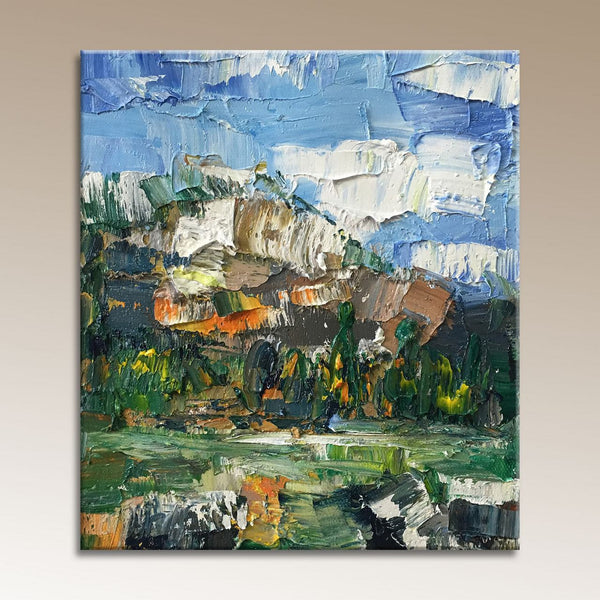 Small Landscape Painting, Canvas Painting, Abstract Painting, Modern Art, Small Art, Original Oil Painting, Small Wall Art Canvas
