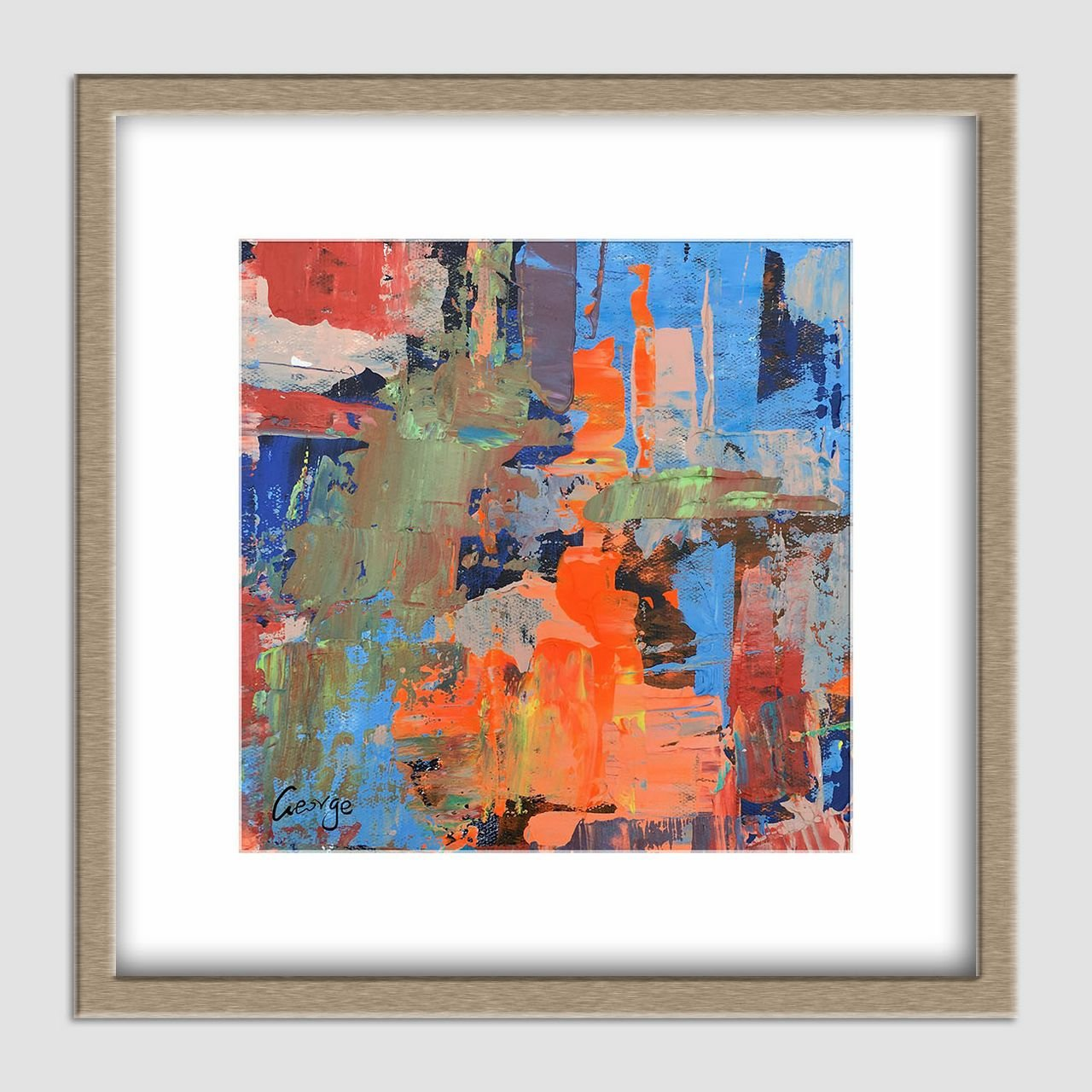 Abstract Canvas Painting, Modern Wall Art, Oil Painting Abstract, Small Canvas Art, Oil Painting Original, Powder Room Art, Modern Painting