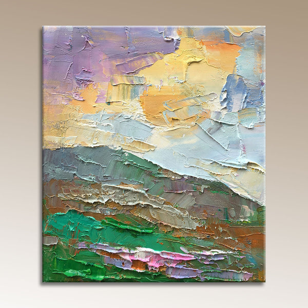 Abstract Painting, Small Canvas Art, Contemporary Wall Art, Landscape Oil Painting, Oil Painting Original, Living Room Wall Decoration