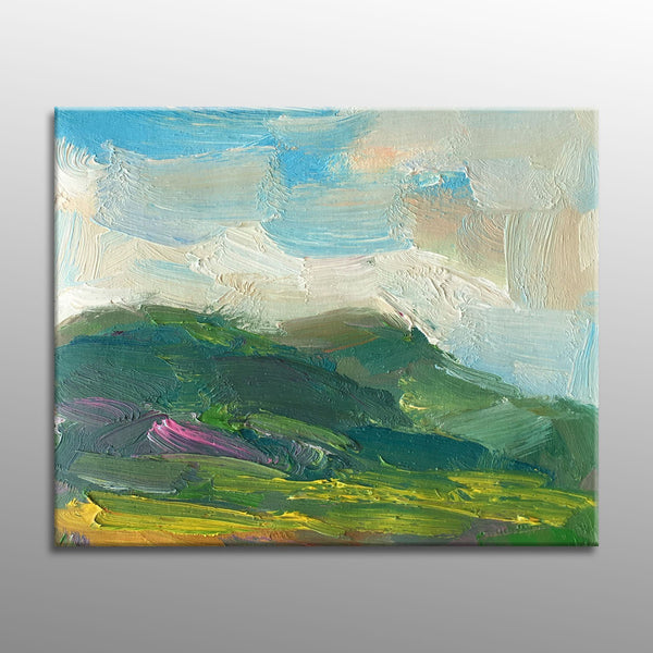 Original Art, Abstract Painting, Abstract Canvas Painting, Small Canvas Wall Art, Landscape Oil Painting, Small Abstract Art, Contemporary