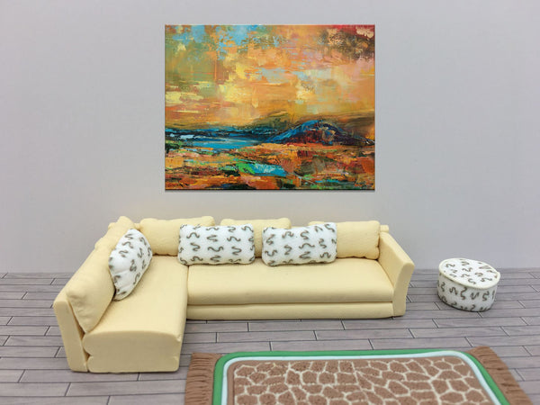 Abstract Landscape Oil Painting, Large Painting, Original Abstract Art, Abstract Art, Large Canvas Wall Art, Living Room Wall Art