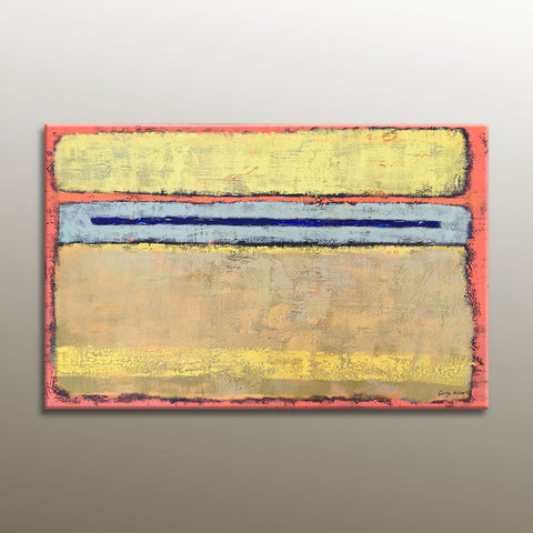 Art Painting -Abstract Painting, Original Oil Painting, Contemporary Painting, Canvas Wall Art, Canvas Art, Yellow, Pink, Large Abstract Art