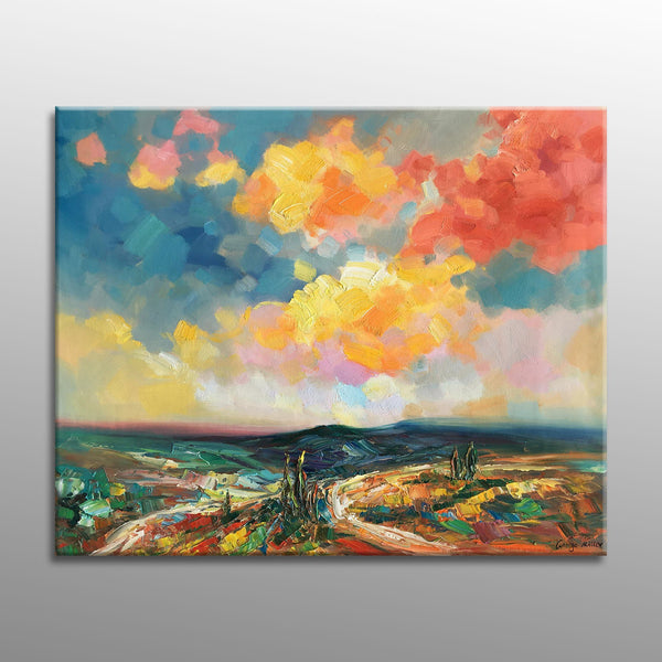 Tuscany Oil Painting, Large Canvas Art, Painting Abstract, Canvas Art, Large Wall Art Canvas, Modern Art, Original Landscape Painting