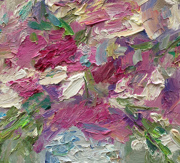 Small Oil Painting, Original Abstract Art, Kitchen Wall Decor, Wall Decor, Floral Art, Oil Painting Abstract, Contemporary Painting