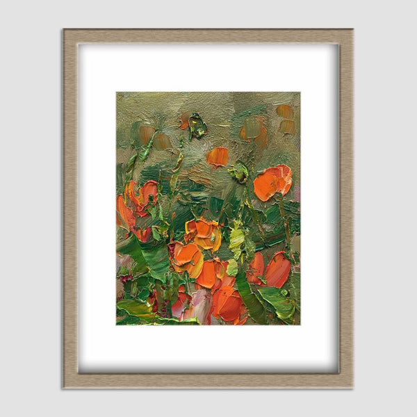 Canvas Wall Decor, Flower Painting, Abstract Canvas Painting, Small Canvas Painting, Original Abstract Art, Contemporary Painting, Poppies