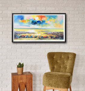 Landscape Oil Painting, Family Wall Decor, Canvas Art, Abstract Painting, Original Painting, Master Bedroom Decor, Modern Painting, Knife
