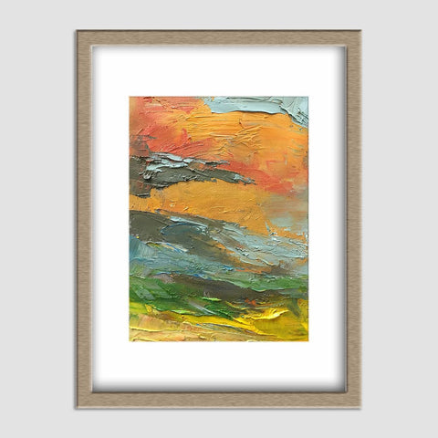 Landscape Oil Painting, Small Oil Painting, Abstract Oil Painting, Small Wall Art Painting, Kitchen Decor, Canvas Painting, Original