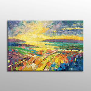 Abstract Art, Original Abstract Painting, Abstract Canvas Art, Landscape Painting, Contemporary Art, Modern Painting, Large Abstract Art