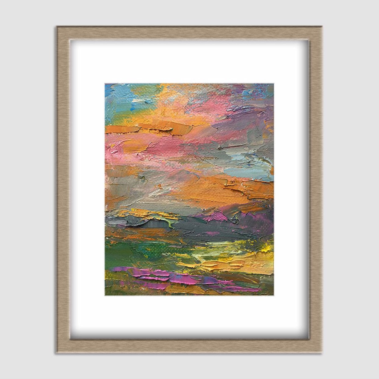 Abstract Canvas Painting, Original Landscape Painting, Original Abstract Art, Bedroom Wall Decor, Abstract Oil Painting, Canvas Wall Art