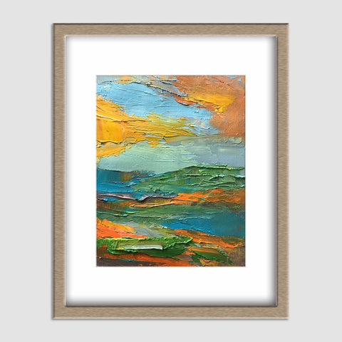 Landscape Painting, Oil Painting Original, Living Room Art, Coffee Wall Art, Modern Painting, Abstract Painting, Abstract Canvas Art, Small