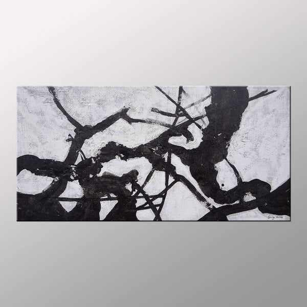 Black and White Art, Original Abstract Art, Abstract Art, Modern Art, Canvas Painting, Wall Decor, Large Painting, Oil Painting, Wall Art