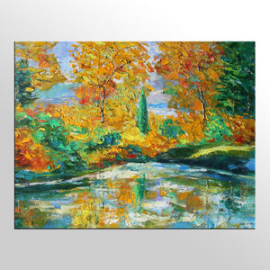 Oil Painting, Landscape Painting, Large Painting, Oil Painting, Original Oil Painting Landscape, Family Wall Decor, Abstract Canvas Art
