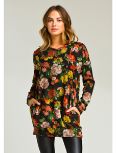 Aubrey Floral Tunic with Pockets