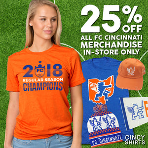 Save 25% Off on ALL FC Cincinnati Merchandise!