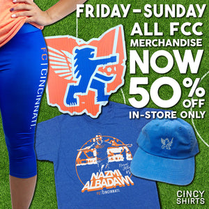 All FCC Merchandise is Now 50% OFF!