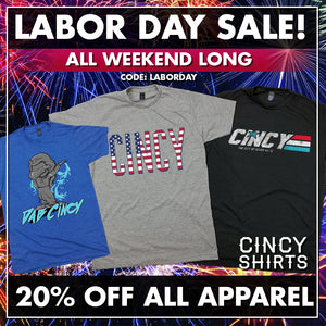 20% Off All Apparel for Labor Day Weekend!