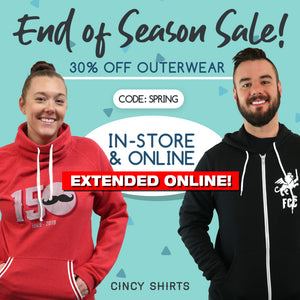 30% End of Season Sale EXTENDED Online!