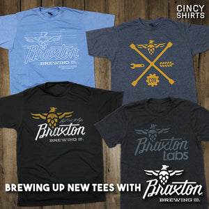 Cincy Shirts Brewed Up A New Collection of Tees with Braxton Brewing Co!