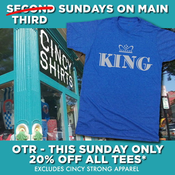 20% Off All Tees at Cincy Shirts OTR!