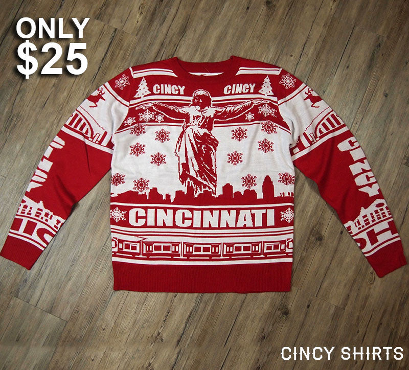 $25 Knit Sweater! Ugly Christmas Sweater! - Cincy Shirts