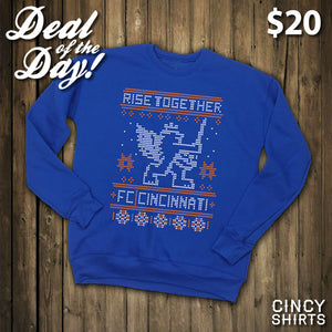 Deal of the Day: $20 FC Cincinnati Ugly Christmas Sweaters