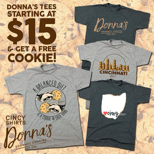$15 Donna's Cookies Tees and Free Cookies!