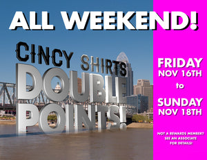 Earn Double Points All Weekend In-Stores!