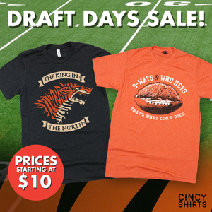 Cincy Shirts' Draft Days Football Sale!