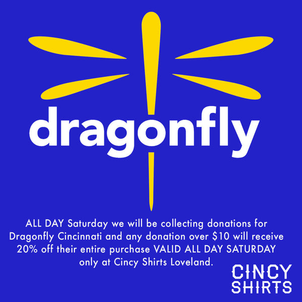 Donate to the Dragonfly Foundation and Save at Cincy Shirts!