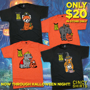 $20 HallZOOween Tees In-Store Now Through Halloween Night!