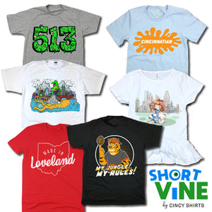Introducing Cincy Shirts' Official Kids Line, Short Vine!