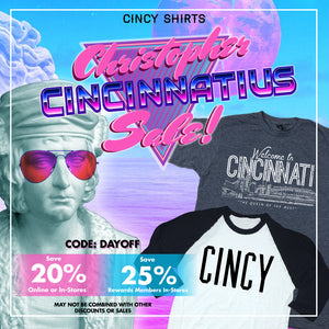 Save Up to 25% During Our Christopher Cincinnatius Sale!