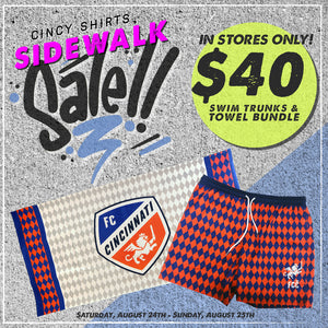 Cincy Shirts Summer Sidewalk Sale!
