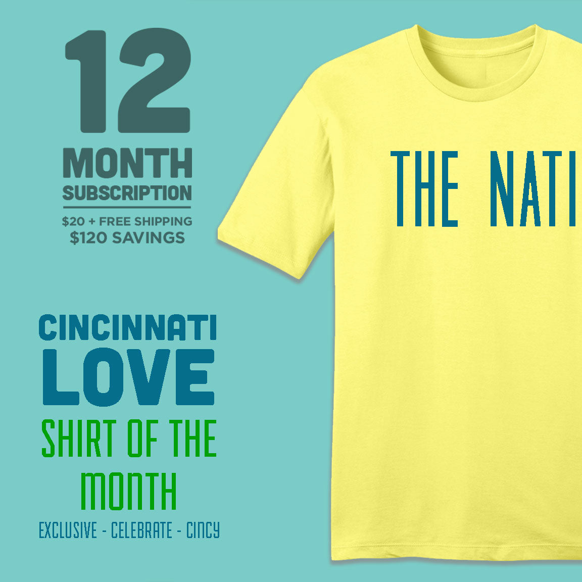 12-Month Cincinnati Love Shirt of the Month