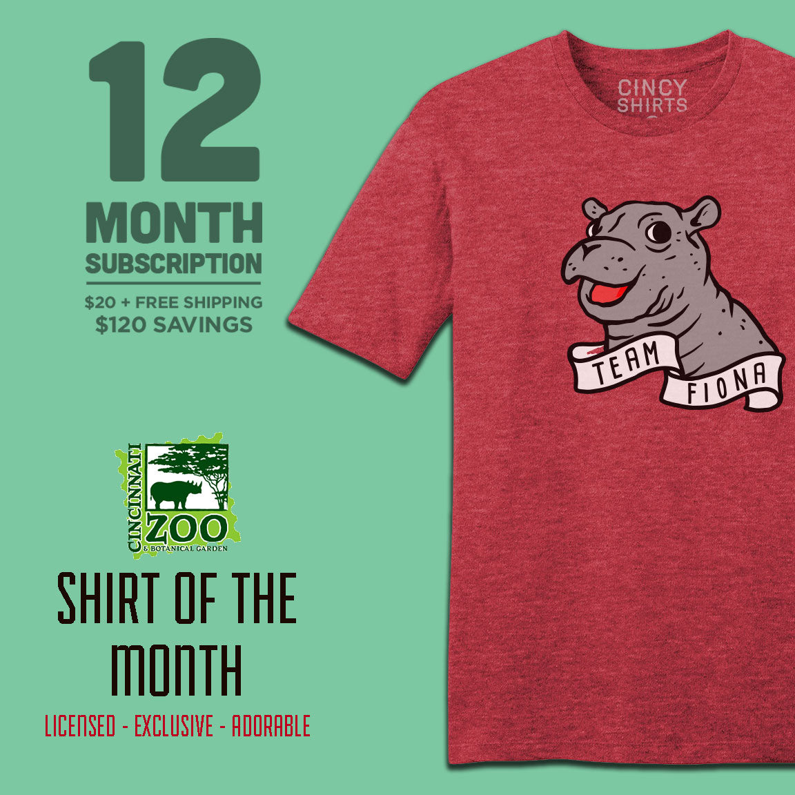 12-month Cincinnati Zoo Shirt of the Month - Cincy Shirts