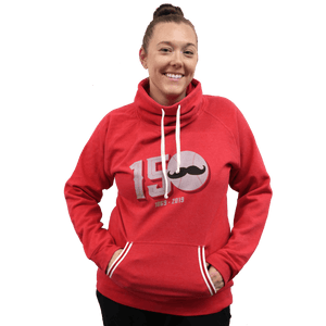 150 Years of Baseball Women's Cowl Neck Sweatshirt - Cincy Shirts