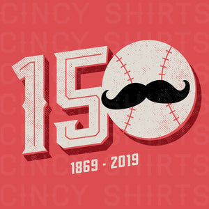 150 Years of Cincinnati Baseball T-shirt