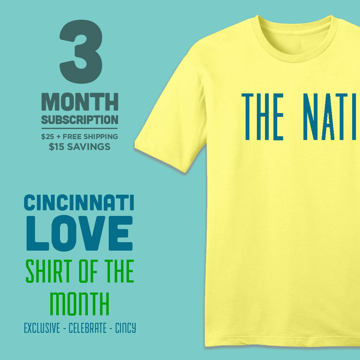 3-Month Cincinnati Love Shirt of the Month - Cincy Shirts