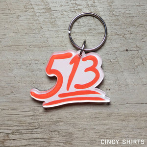 513 Emoji Key Ring - Cincy Shirts