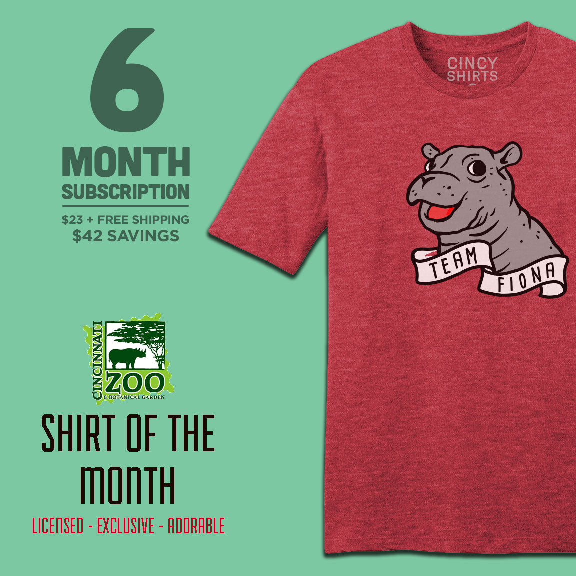 6-Month Cincinnati Zoo Shirt of the Month - Cincy Shirts