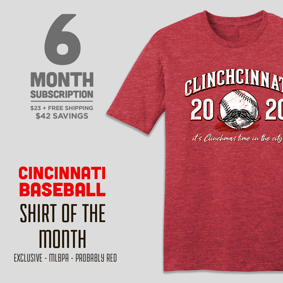 6-Month Cincinnati Baseball Shirt of the Month