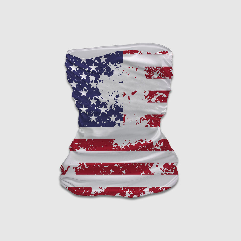 Vintage American Flag Neck Gaiter - Cincy Shirts