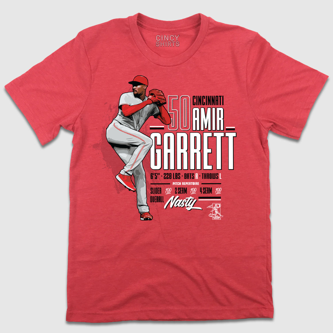 Official Amir Garrett MLBPA Tee - Cincy Shirts
