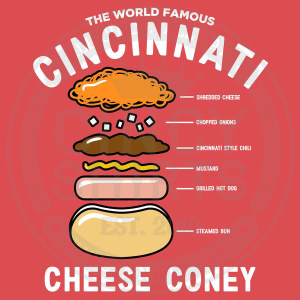 Anatomy of a Cheese Coney - Crewneck Sweatshirt - Cincy Shirts
