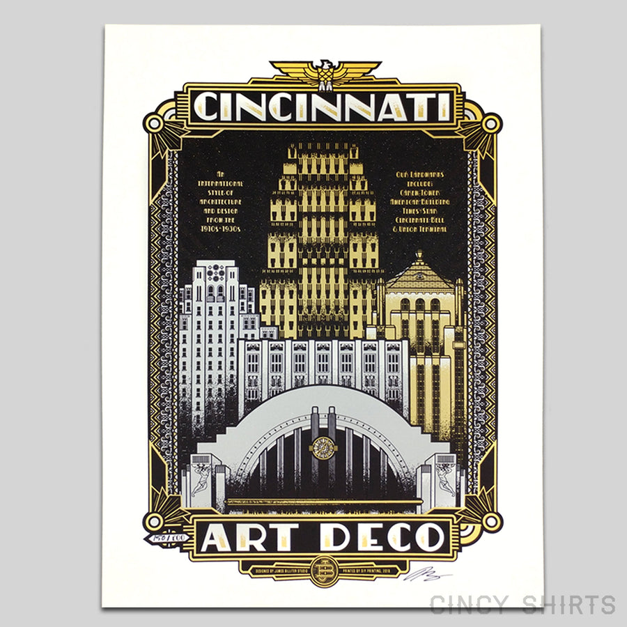 Art Deco - Limited Edition Print - Cincy Shirts