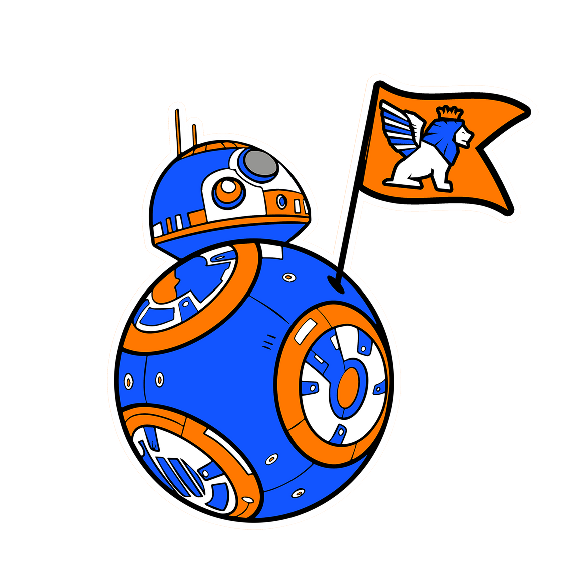 FCC BB-8 Sticker - Cincy Shirts