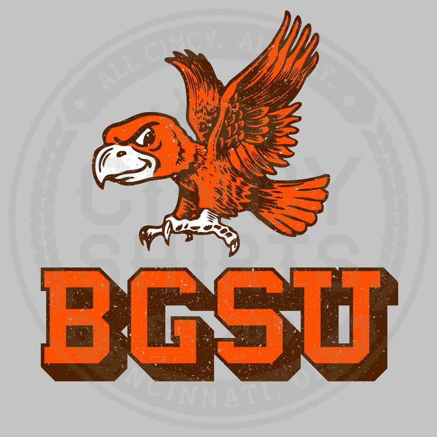 Bowling Green State University - Flying Falcon Logo - Cincy Shirts
