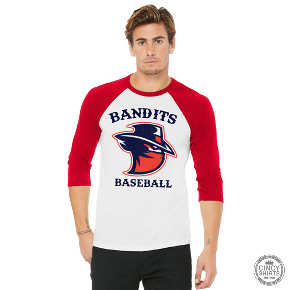 Northern Kentucky Bandits Baseball - Adult Raglan Baseball Tee - Cincy Shirts