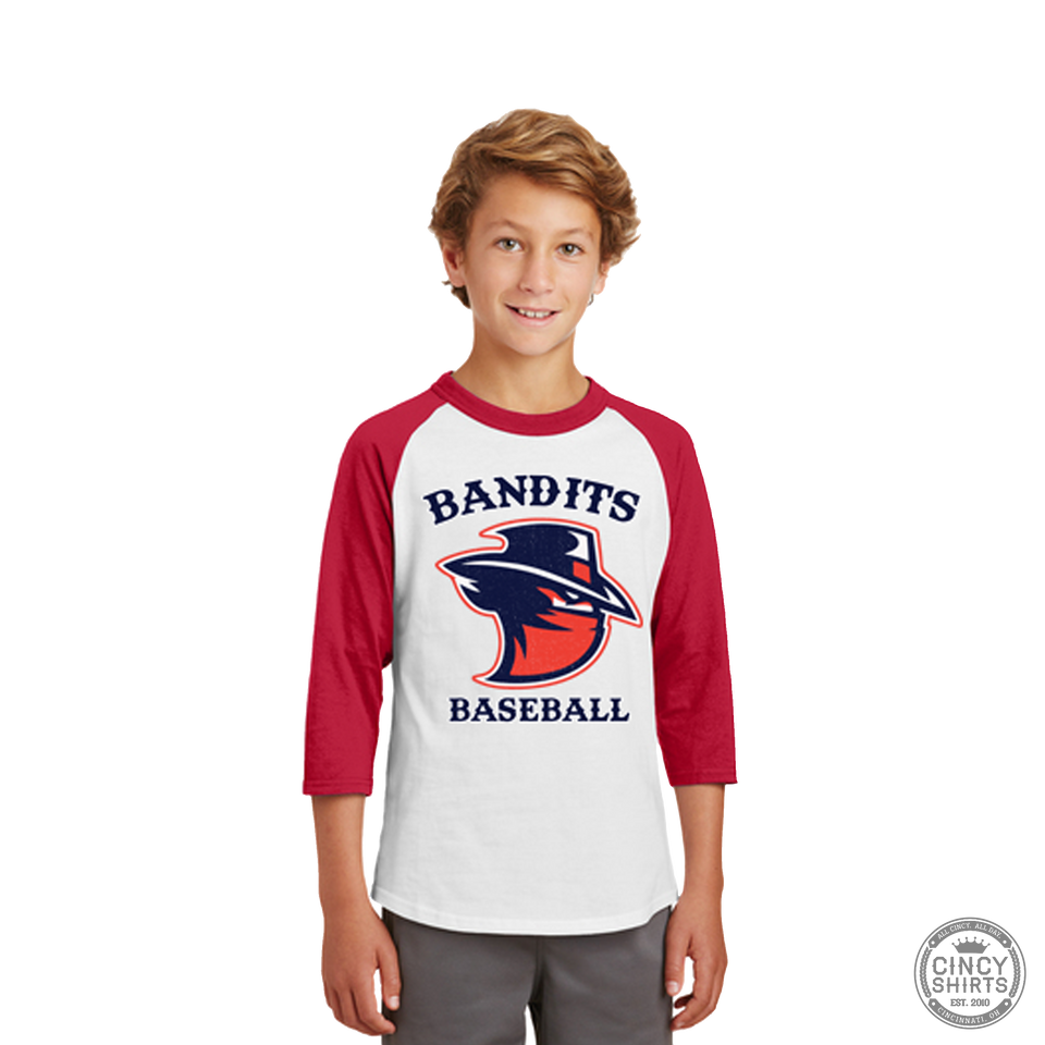Northern Kentucky Bandits Baseball - Youth Raglan Tees - Cincy Shirts